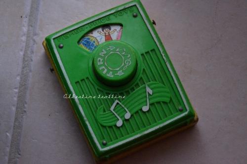 radio fisher price vintage